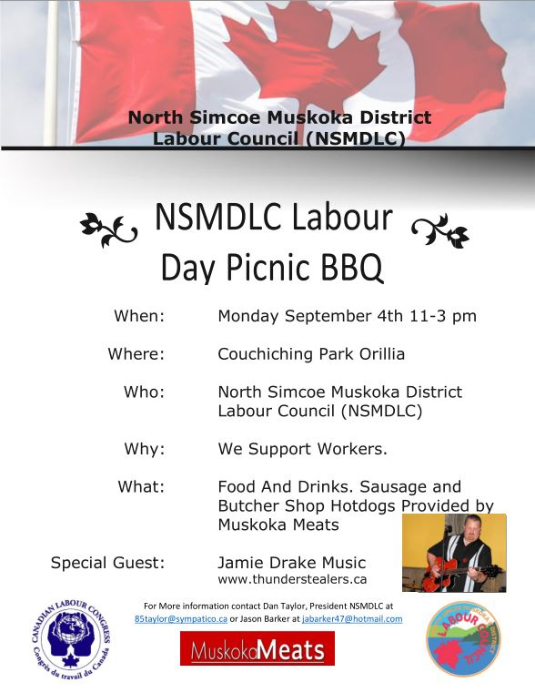 Orillia Labour Day Flyer